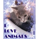 Camiseta I Love Animals Entallada
